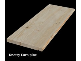 Knotty Euro pine tread