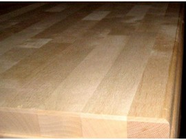 Birch countertop with chamfered edges