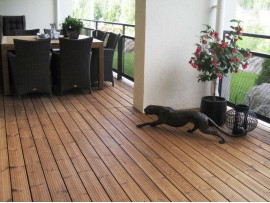 Thermally modified Pine and Spruce Decking
